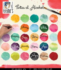Tintas al alcohol Titina's x 30ml