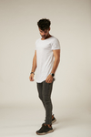 Remera Long Fit Gris Melange