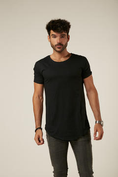 Remera Long Fit Negro - comprar online