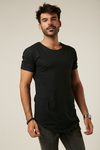 Remera Long Fit Negro