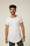 Remera Long Fit Blanco