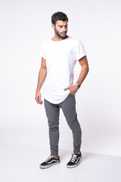 Remera Long Fit White - comprar online