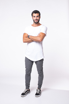 Remera Long Fit White en internet