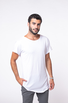 Remera Long Fit White