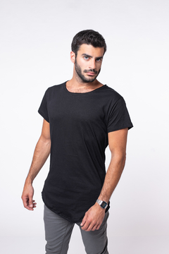 Remera Long Fit Black
