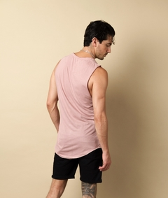 Musculosa Long Fit Rosa