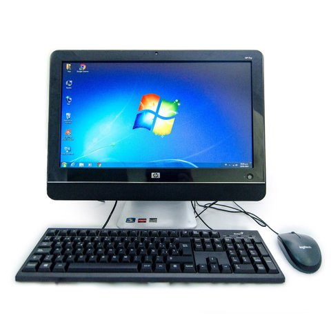 "AIO HP AMD Athlon 260 4 gb RAM 500 gb HDD 18.5"" Windows 7 pro Clase B"