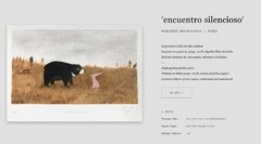 """ENCUENTRO SILECIOSO"" PRINT. AUTORA: DIFFERENT FOLKS Co. - comprar online"