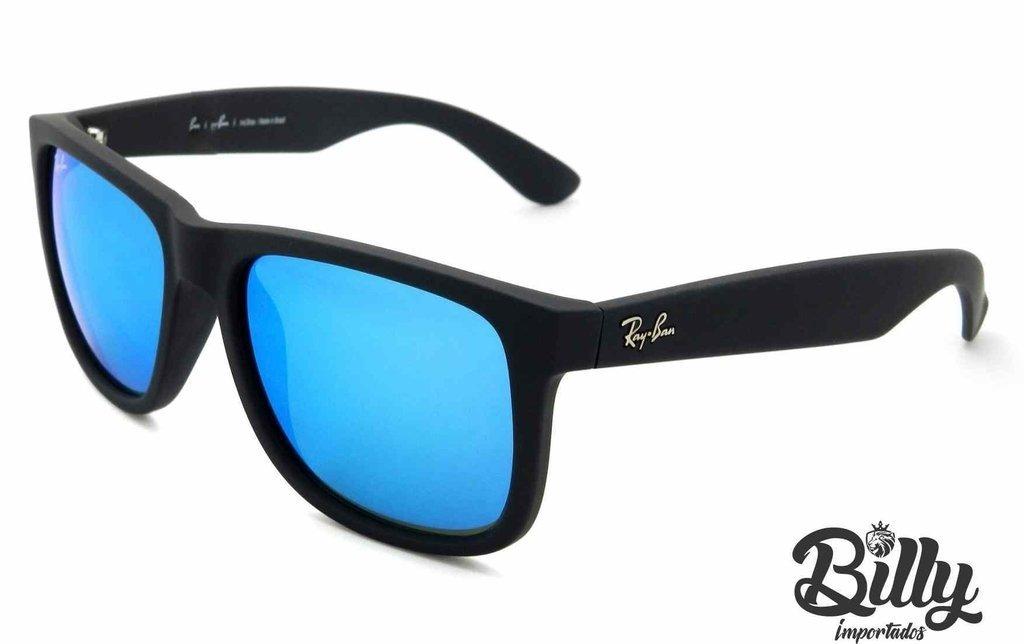 dba6a9e24bd4b Ray Ban Justin - RB4165 - Lentes Polarizadas Espelhado Azul. 0% OFF. 1