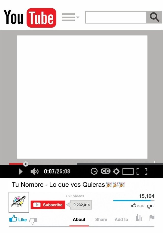Frame marco para fotos instagram facebook youtube for Marco 100x70