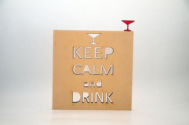 Cuadro Keep calm and drink - comprar online