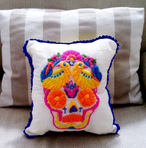 Calavera mexicana bordado