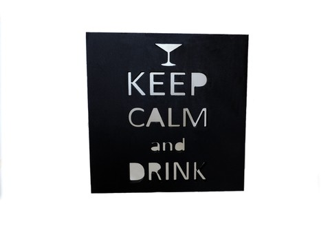 Cuadro Keep calm and drink