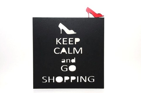 Cuadro KEEP CALM AND GO SHOPPING