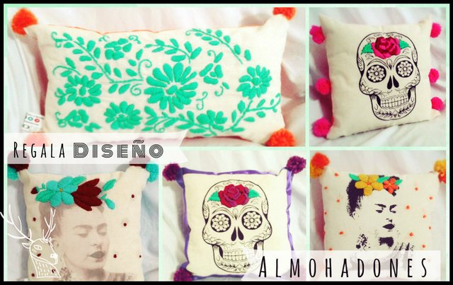Almohadón FRIDA estampado en internet