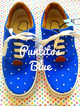 Zapatillas Puntitos Blue