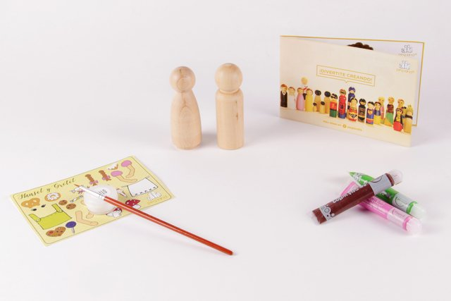 KIT Hansel y Gretel (con tempera + stickers) - comprar online