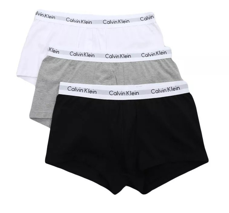 d60fe14664f111 Kit 3 Cuecas Calvin Klein Underwear Low Rise Trunk