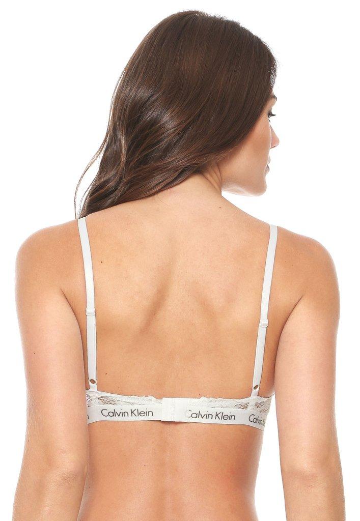 a12c8bc7384943 Sutiã Triangulo Calvin Klein Underwear de Renda Personalizado