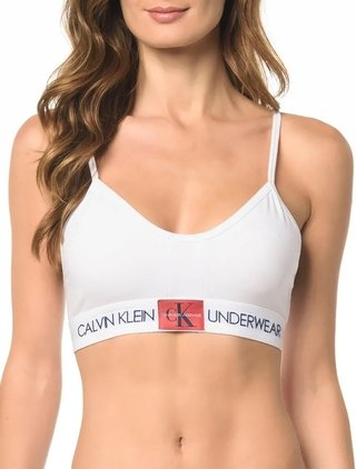 Top Alças Calvin Klein Underwear Monogram de Cotton