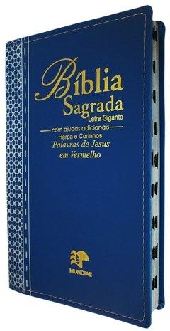 Bíblia Letra Gigante com Harpa - Luxo Em...