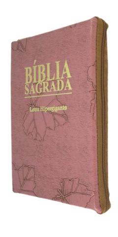Bíblia letra hipergigante - capa com zíp...