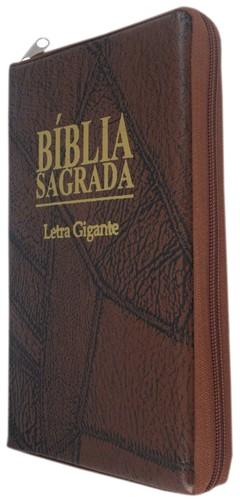 Bíblia letra gigante - capa com zíper ma...