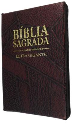 Bíblia letra gigante - capa com zíper vi...