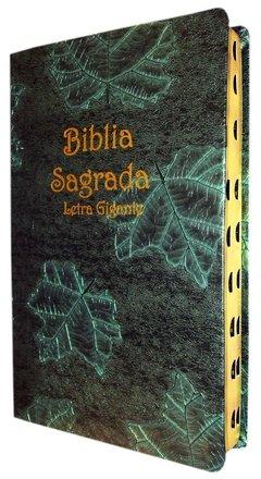 Bíblia letra gigante - capa luxo verde f...