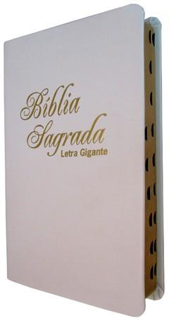Bíblia letra gigante - capa luxo branca