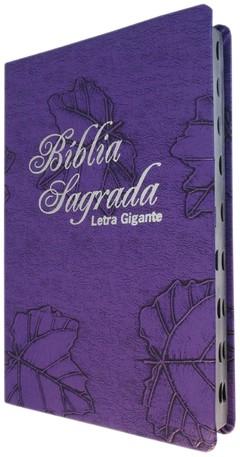 Bíblia letra gigante - capa luxo roxa fo...