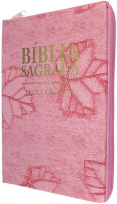 Bíblia letra gigante - capa com zíper ro...