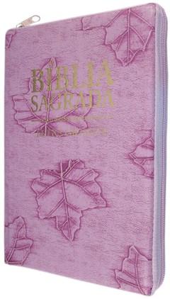 Bíblia letra gigante - capa com zíper li...