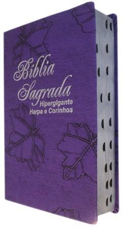 Bíblia letra hipergigante com harpa - ca...