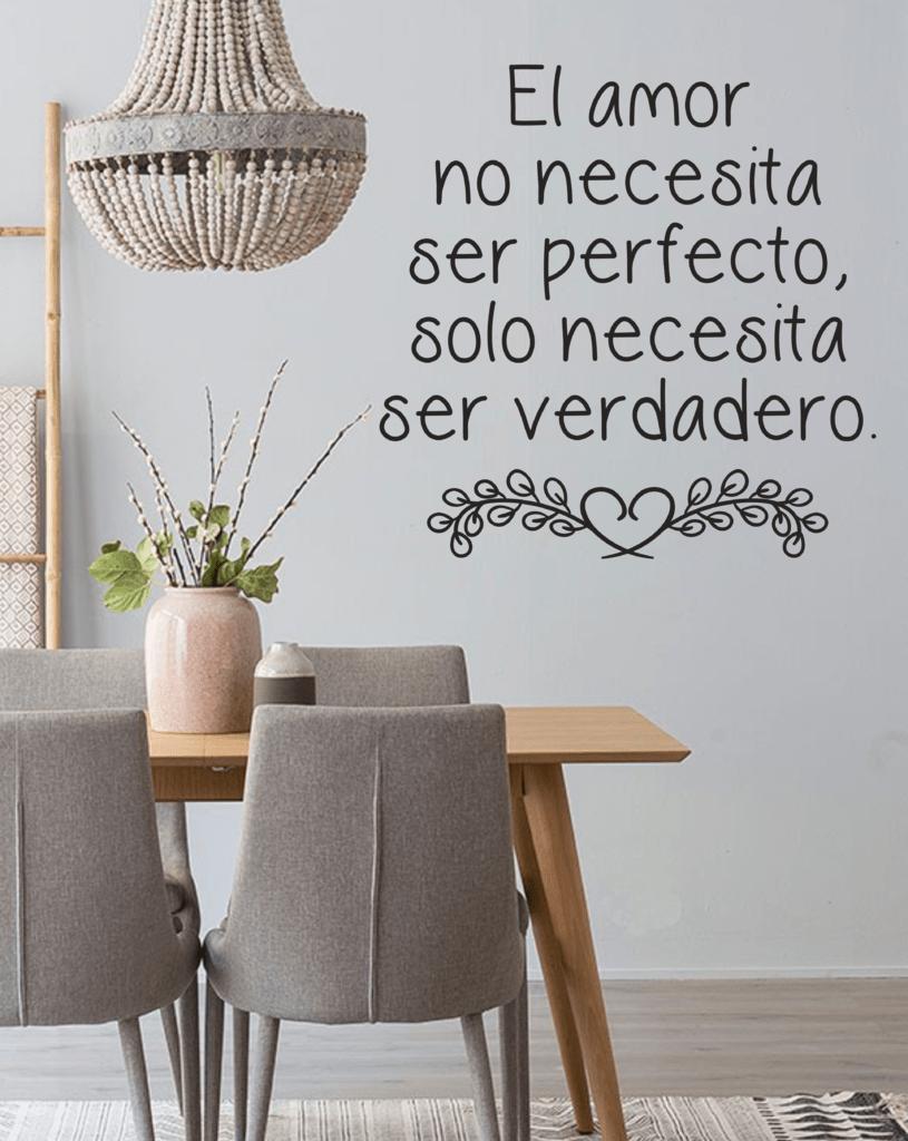 Vinilo Decorativo Frase Amor Verdadero