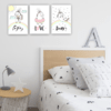 Set cuadros decorativos Magic unicorn