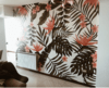 Vinilo Decorativo Mural Tropical Flower