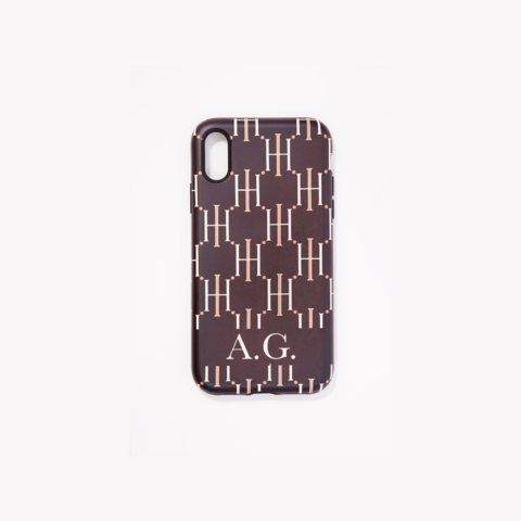 H CASE MONOGRAM BLACK