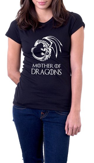 Baby Look Algodão Mother of Dragons GoT