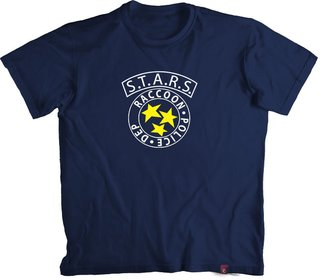 Camiseta Resident E. START Raccoon City Police - 100% Algodão