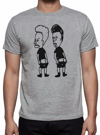 Camiseta Beavis and Head Minimalista