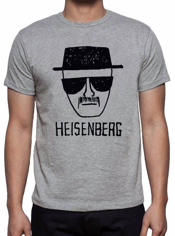 7d4754768 Camiseta ou Baby Look Cinza Breaking Bad Heisenberg Série 500