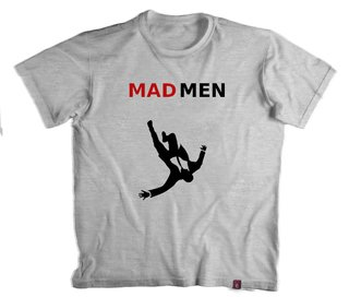Camiseta Mad Men - 100% Poliéster