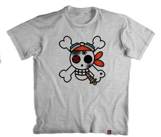 Camiseta On. Piece  Jolly Roger Skull - 100% Poliester