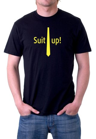 Camiseta How I Met your mother Suit Up - 100% Algodão (modelo 2)