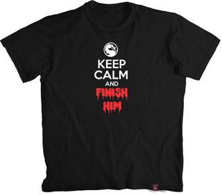 Camiseta M. Kombat Keep Calm and Finish Him- 100% Algodão