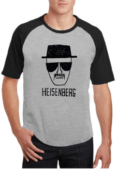 Camiseta ou Baby Look Cinza Breaking Bad Heisenberg Série 500 - Cartoon Mania