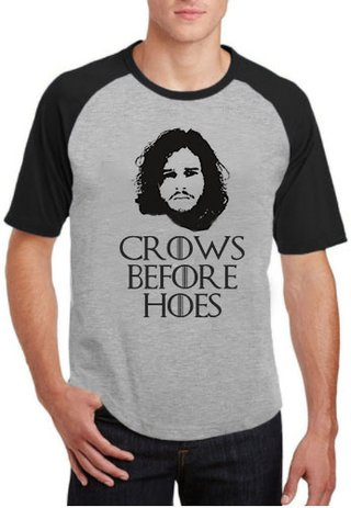 Camiseta Crows before Hoes Guerra dos Tronos - 100% Poliéster