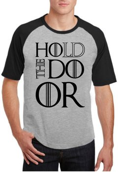 Camiseta Raglan Cinza Hold The Door GoT