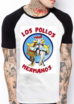 Camiseta Branca Los Pollos Hermanos Série Breaking Bad 501 na internet